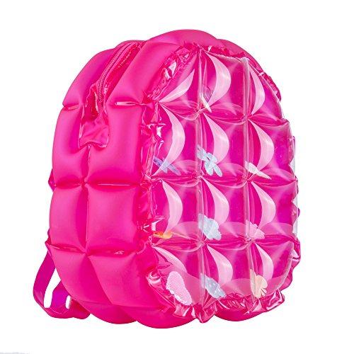 Zerlar Bolsa de Playa Bolsas Inflables Escuela Hombro Mochila Bolsa Impermeable Rosa roja