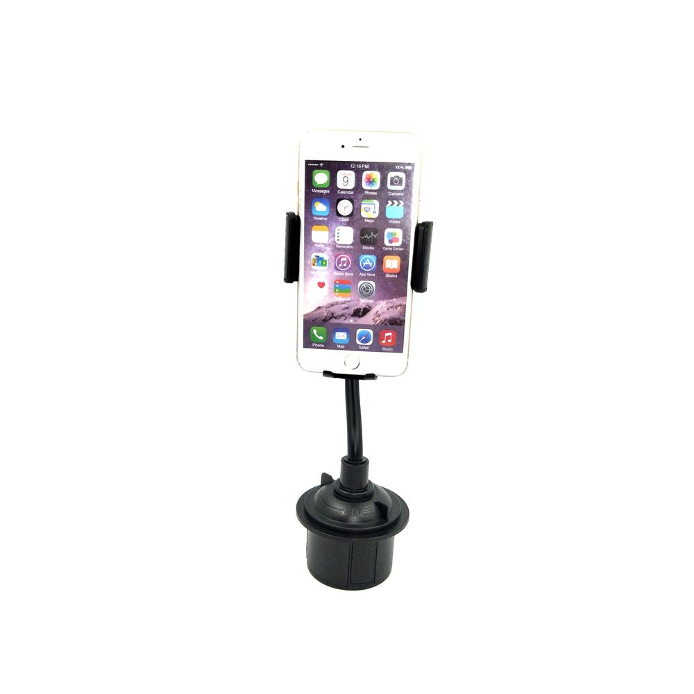 Mobile Phone Holder, Flexible Gooseneck Car Cup Holder Mount for Cell Phones, Portable Mobile Phone Holder for Car Hands Free, Compatible with Most Smartphones Used in Home or Office (S094, Black)