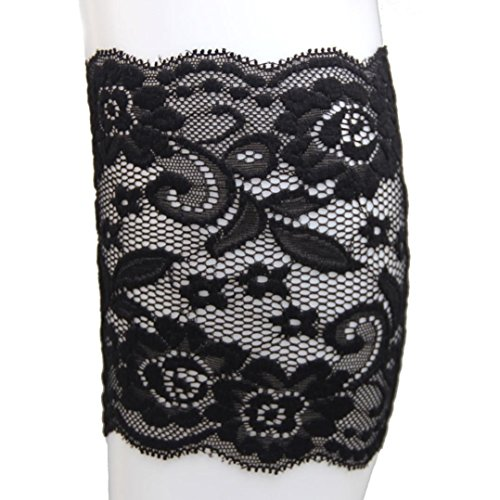 - Coromose 2015 Jacquard Knitted Cuffs Toppers Liner Boot Leg Warmers Socks (Short-Black)