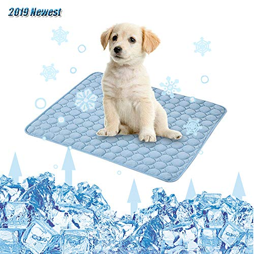 (Womdee Dog Cooling Mat Extra Large 40'' x 28'' Ice Silk Mat Cooling Pad, 2019 Newest with 'CoolCore' Technology, Keep Cooling The Whole Summer for Dogs and Cats for Home,Travel, Seats, Beds)