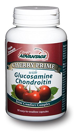 Fruit Advantage Cherry Prime Montmorency Tart Cherry Extract with Glucosamine & Chondroitin - 90 Capsules (2-Pack)