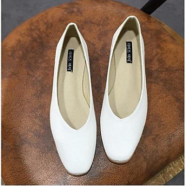 Cómodo y elegante soporte de zapatos de las mujeres pisos primavera verano otoño otros casual de microfibra plana talón otros negro blanco gris de almendro en Walking negro