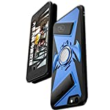 iPhone 8 7 6 6S Case, Folice [Silm Protable][Car Magnetic Chuck][Luxury Game Consoles] Anti-Scratch Stealth Ring Frame Kickstand Gamepad case for Apple iPhone 8/7 /6/6S (Blue)