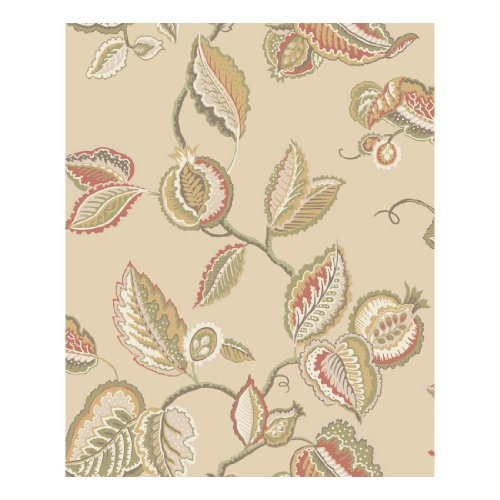 - York Wallcoverings WA7762 Waverly Classics Fantasy Fleur Wallpaper, Buff/Cream/Beige/Russet/Olive/Amber/Dark Chocolate