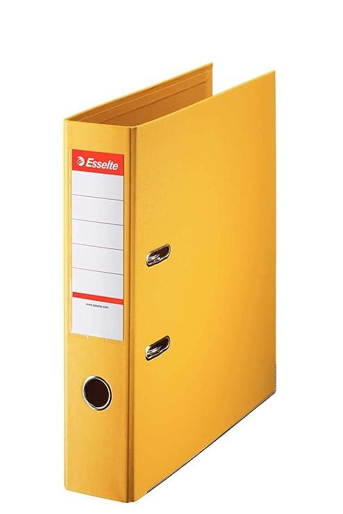 Esselte archivador 70ST yellow, espesor 2-hoyo, archivadores, A4 tamaño correspondencia,