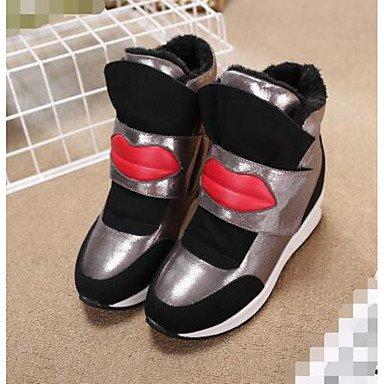 Botas de mujer Primavera enredaderas Confort Casual gamuza Black