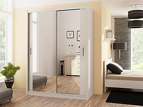 Armadio Ante Scorrevoli 120.Dako Furniture Guardaroba Paris 120 Bianco Con Ante