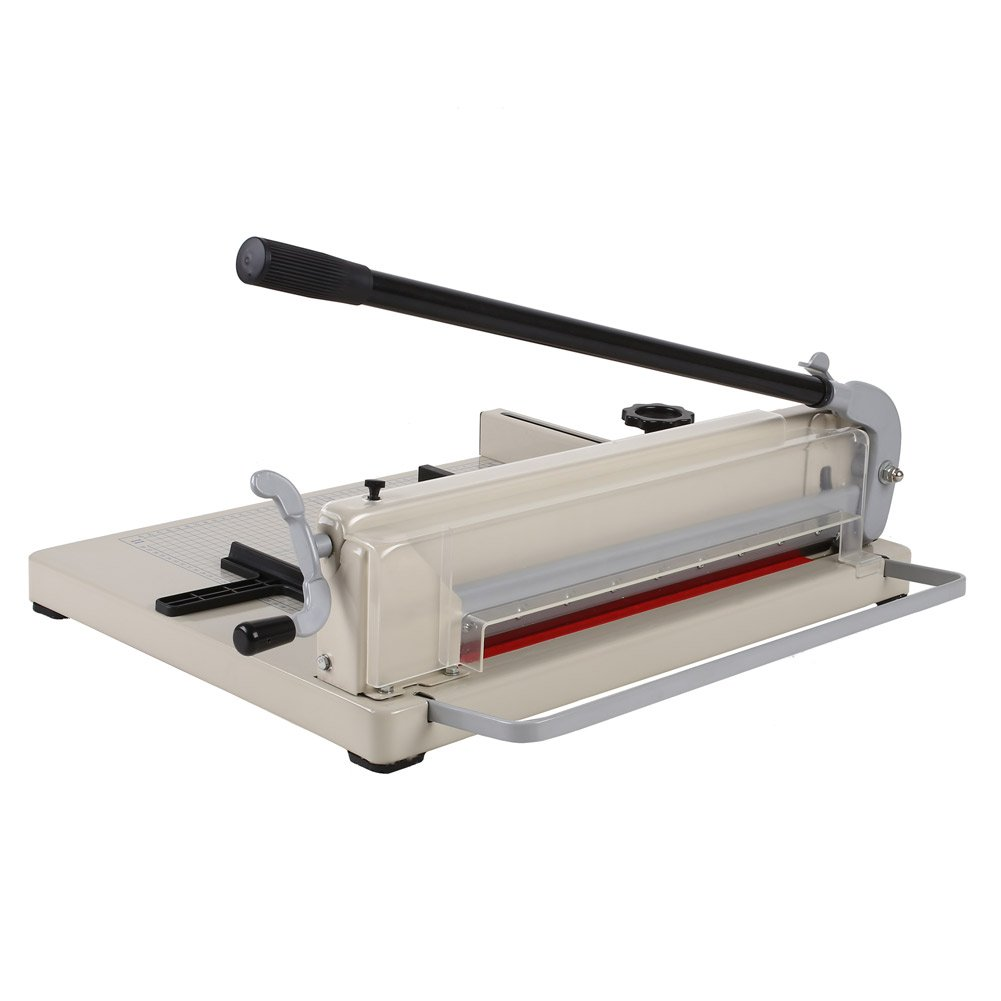 Amzdeal ® 17'' Steel Heavy Duty Manual Guillotine Paper Cutter Trimmer Machine White w/ Inches Ruler Capacity 400 Sheets A3 for Office Commercial Photocopy Printing Shop by Amzdeal (Image #6)