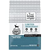 """I and love and you"""" Lovingly Simple Limited Ingredient Holistic Dog Kibble, Whitefish & Sweet Potato, 3.85 LB"""