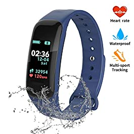 Fitness Tracker, Color Screen Activity Tracker with Blood Pressure Blood Oxygen,IP67 Waterproof Smart Watch with Heart…