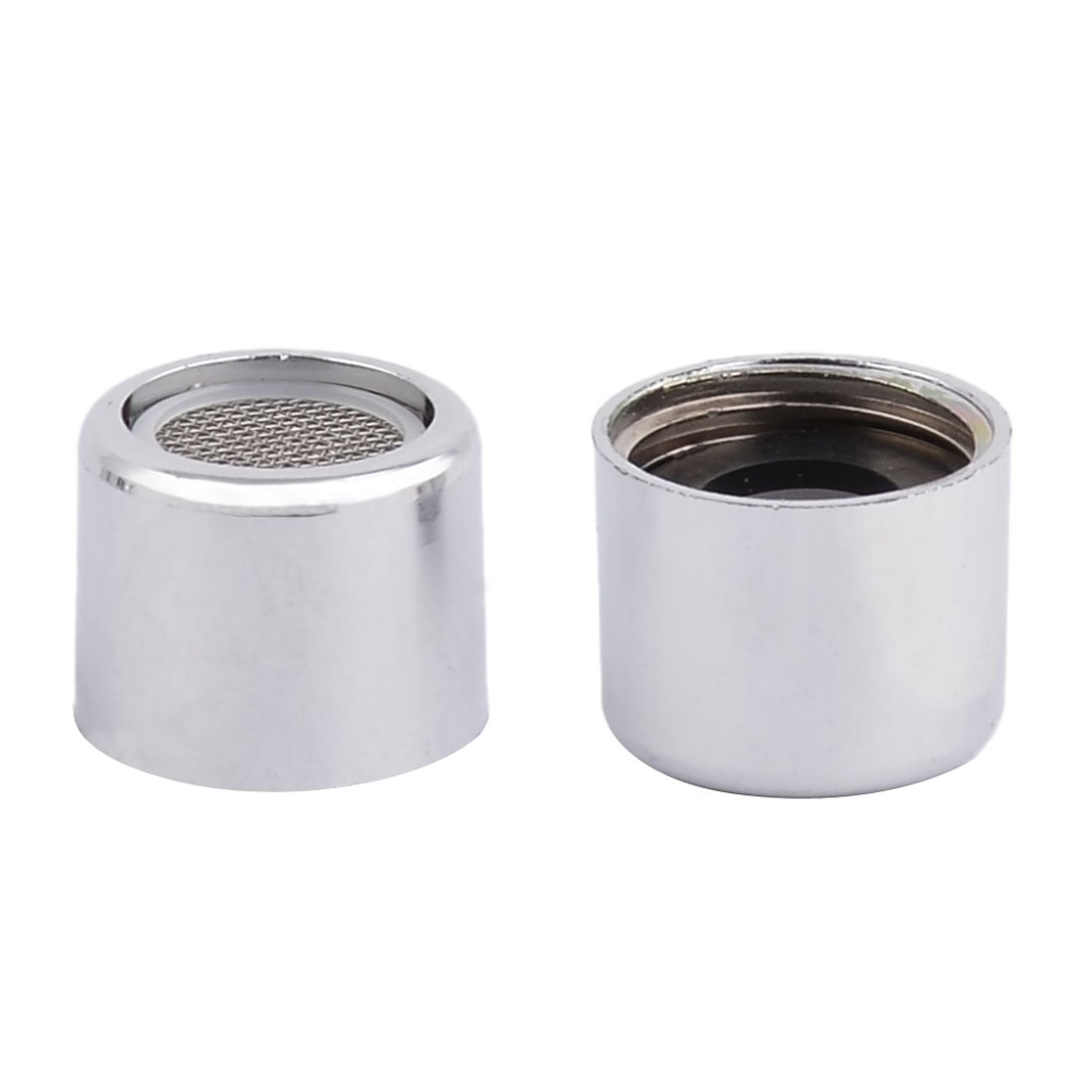 Sourcingmap Metal Home Water Cleaning Waste Stopper Faucet Nozzle Filter 2 Pcs Silver Tone sourcing map