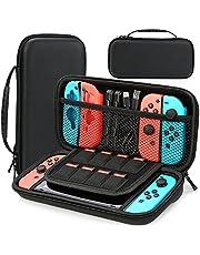 HEYSTOP Fodral kompatibelt med Nintendo Switch skyddande hård bärbar resväska skalfodral kompatibel med Nintendo Switch-konsol och tillbehör