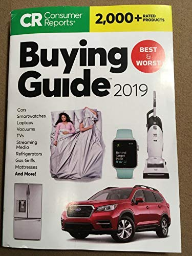 Consumer Reports Buying Guide For 2019-Rates 2000+