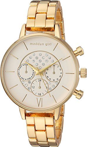 Steve Madden Women's Quartz Metal and Alloy Casual Watch, Color:Gold-Toned (Model: SMGW024G)