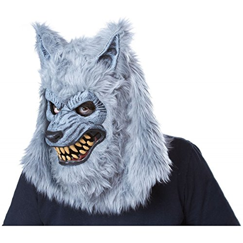 GSG Scary Werewolf Ani-Motion Mask Adult Mens Moving Jaw Halloween Costume (Chief Indian Princess Costume)