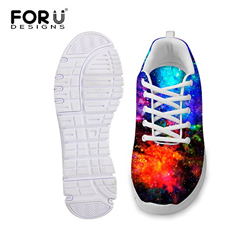 Running Breathable Sneakers Galaxy U Galaxy Fashion Women's DESIGNS Print Weight Lace FOR 3 up Shoes amp; Light Men's 86qp1t