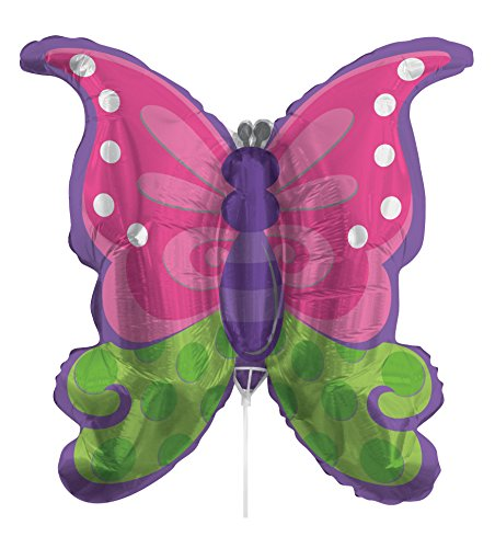 (Creative Converting Air-Filled Butterfly Balloon with Stick and Joiner, 30