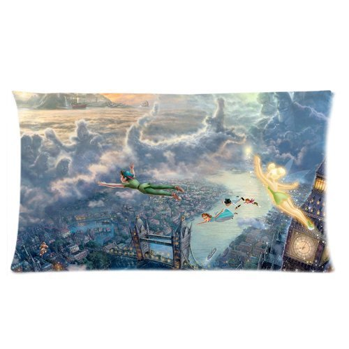 Fan Create Disney Peter Pan Fantastic World Custom Zippered Pillow Cases 20x36 (one side) by throw pillow cases (Peter Pan Pillow compare prices)