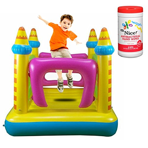 Jump House Inflatable Party Bounce House with Air Pump and Antibacterial Hand Wipes