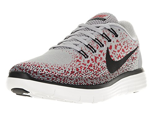 Nike Mens Free Rn Distance Wlf Grey/Blck Unvrsty Rd Phntm Running Shoe 10 Me... (Nike Flex Run Mens Shoes)