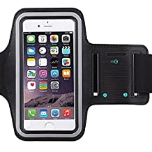 Universal Water Resistant Sports Armband,iBarbe,case Bundle with Screen Protector for iPhone 7/6/6S Plus,LG G6 G5,Galaxy s8,s8 plus s7 s6 Edge,Note 5 Sport Exercise Running Pouch Key Holder (Black)