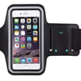 5c iphone light blue wallet case - Universal Water Resistant Sports Armband,iBarbe,case Bundle with Screen Protector for iPhone 7/6/6S Plus,LG G6 G5,Galaxy s8,s8 plus s7 s6 Edge,Note 5 Sport Exercise Running Pouch Key Holder (Black)