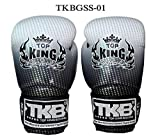 Top King Boxing Gloves TKBGSS-01 Supper Star Silver 8,10,12,14,16 oz. Sparring Training Muay Thai Kickboxing MMA K1