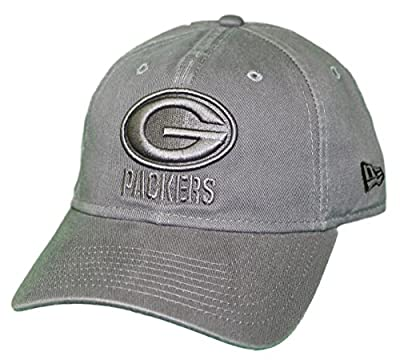 New Era Green Bay Packers NFL 9Twenty Classic Tonal Adjustable Graphite Hat from New Era