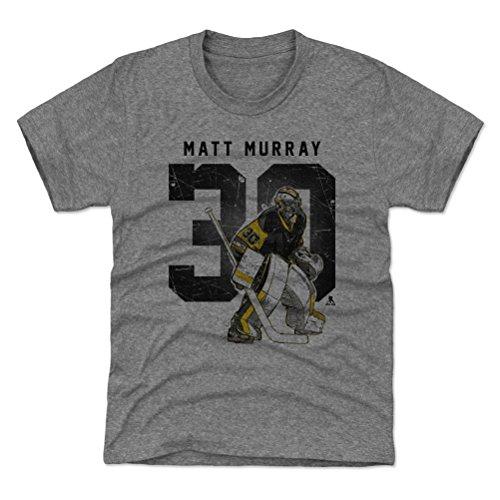 500 LEVEL Pittsburgh Hockey Youth Shirt - Kids Medium (8Y) Tri Gray - Matt Murray Grunge K