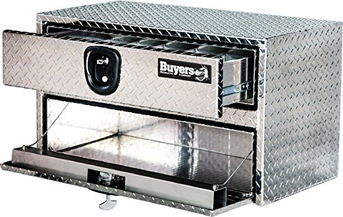 Drawer Aluminum (Buyers Products Diamond Tread Aluminum Underbody Truck Box w/Drawer (20x18x36 Inch))