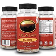 Shed H2O   Natural Diuretic Water Pills for Water Retention Relief, Supports Men and Women in Reducing Bloating and Water Weight   Supports Healthy Potassium Levels by New Day Health