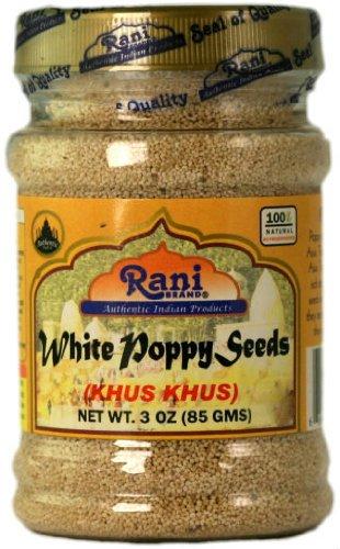 Rani White Poppy Seeds Whole (Khus Khus) Spice 3oz (85g)