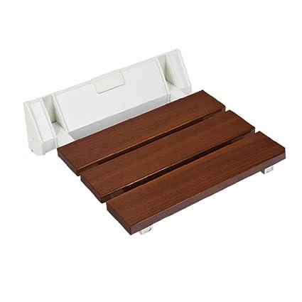 Amazon.com: LIULIFE Wall Stool Solid Wood Folding Chair Bathroom ...