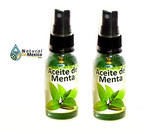 2 Peppermint Essential Oils - 2 Aceites organicos de Menta Therapeutic Grade Aromatherapy, Relaxation, Improved Mood - 2 bottles of 1 oz or 29 ml (Di Menta Mint)