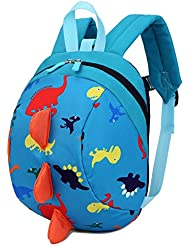 Amint 3D Dinosaur Design Safety Leash Harness Bag Mini Backpack for Toddlers Kids