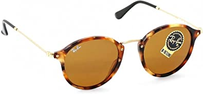 Ray-Ban Round RB 2447 1160 49mm Spotted Brown Havana Frame / Brown Lens: Amazon.es: Zapatos y complementos