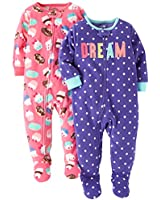 Carter's Baby Girls' 2-Pack Fleece...