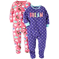 Baby Girls' 2-Pack Fleece Pajama Set