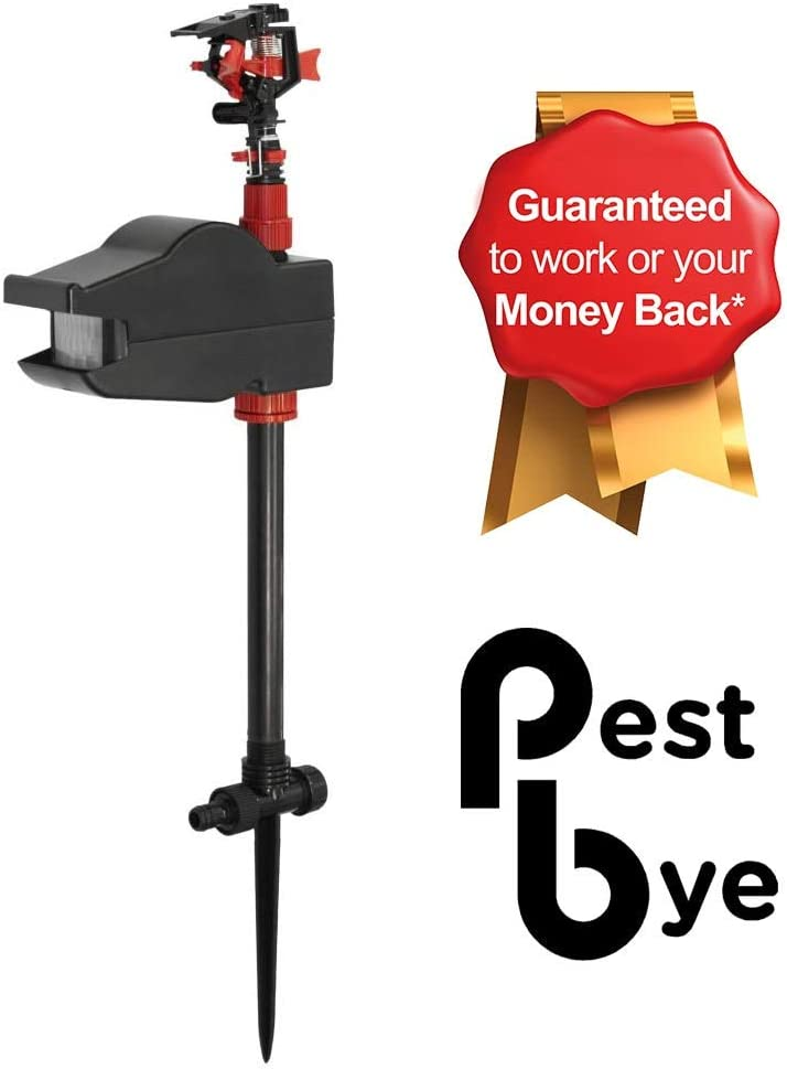 PestBye Jet Spray Battery Operated Motion Activated Cat Scarer & Repellent - Animal Repeller