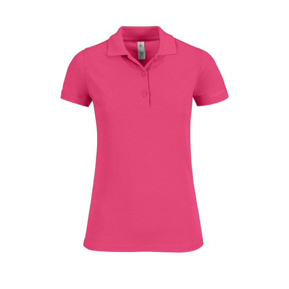 B&C Collection - Polo - para Mujer Rosa Fucsia: Amazon.es: Ropa y ...