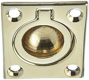 Baldwin 0392003 Flush Ring Pull, Lifetime Brass
