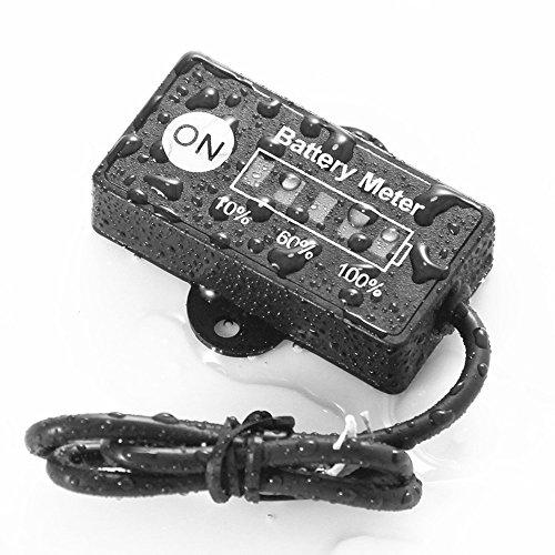 mini 12v 24v led battery indicator gauge meter for motorcycle golf carts car atv 603338547577 ebay. Black Bedroom Furniture Sets. Home Design Ideas