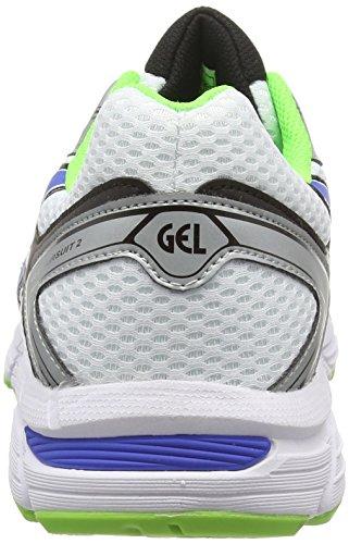 ASICS Gel-Pursuit 2 - Zapatillas de deporte para hombre Blanco (White / Blue / Flash Green 142)