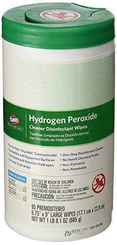 Clorox Healthcare Disinfectant Bundle, 1 Bottle Hydrogen Peroxide  Disinfectant Spray, 1 Canister Hydrogen Peroxide Disinfectant Wipes