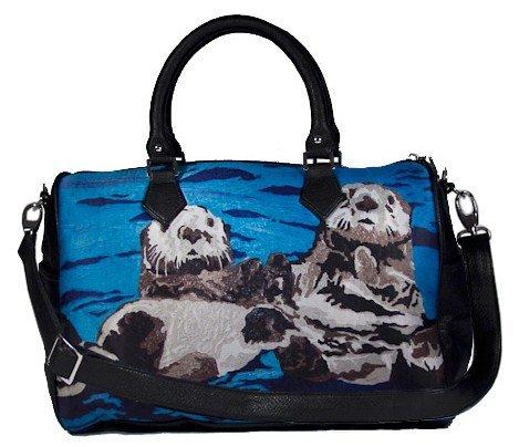 Vegan Leather Handbag With...
