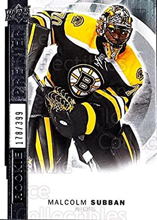 Amazon Com Ci Malcolm Subban Hockey Card 2015 16 Upper Deck