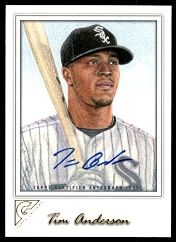 2017 Topps Gallery Autographs #36 Tim Anderson Auto - NM-MT