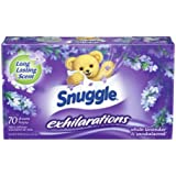 Snuggle Exhilarations Fabric Softener Dryer Sheets, White Lavender & Sandalwood, 70 Count