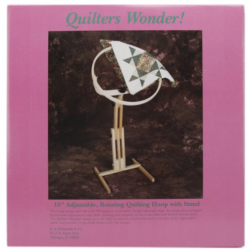 "F.a. Edmunds Quilters Wonder Adjustable Quilting Hoop Frame With Stand,18"" round"