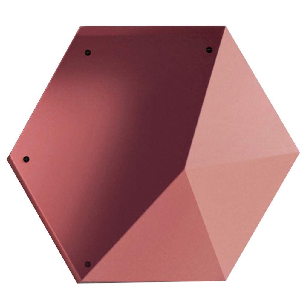 ラック フローティング棚壁の装飾クリエイティブコンビネーションリビングルームのベッドルームホーム収納ラック B07T2PXZL7 Pink
